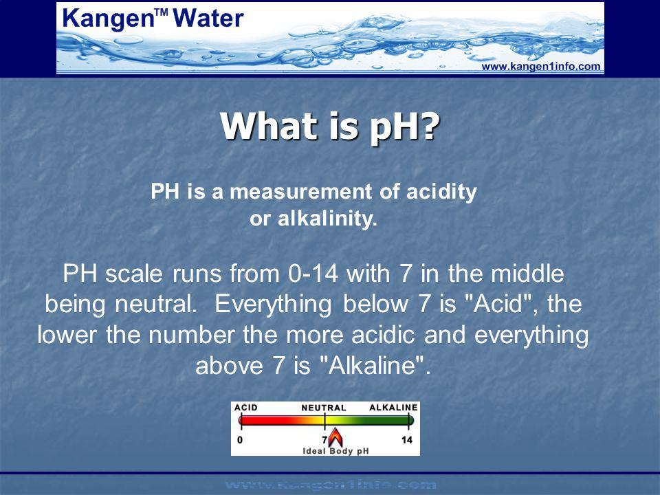 PH is a measurement of acidity