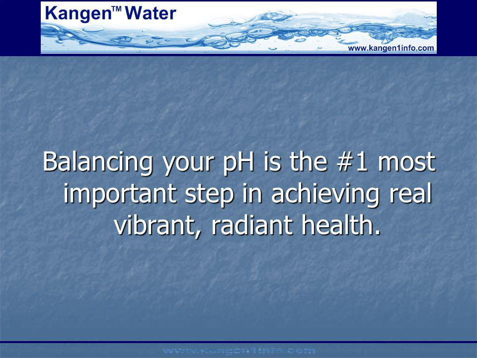 Balancing your pH is the #1 most important step in achieving real vibrant, radiant health.