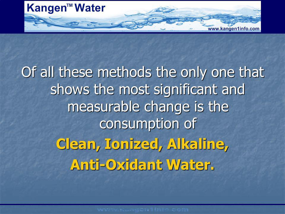 Clean, Ionized, Alkaline,