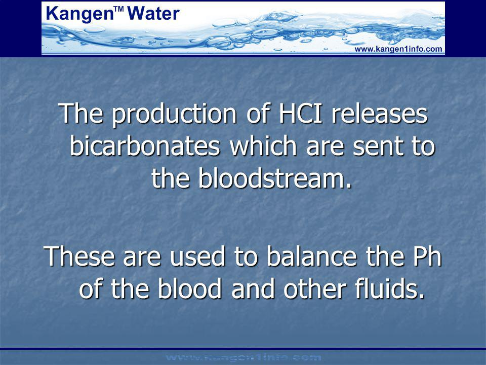 These are used to balance the Ph of the blood and other fluids.