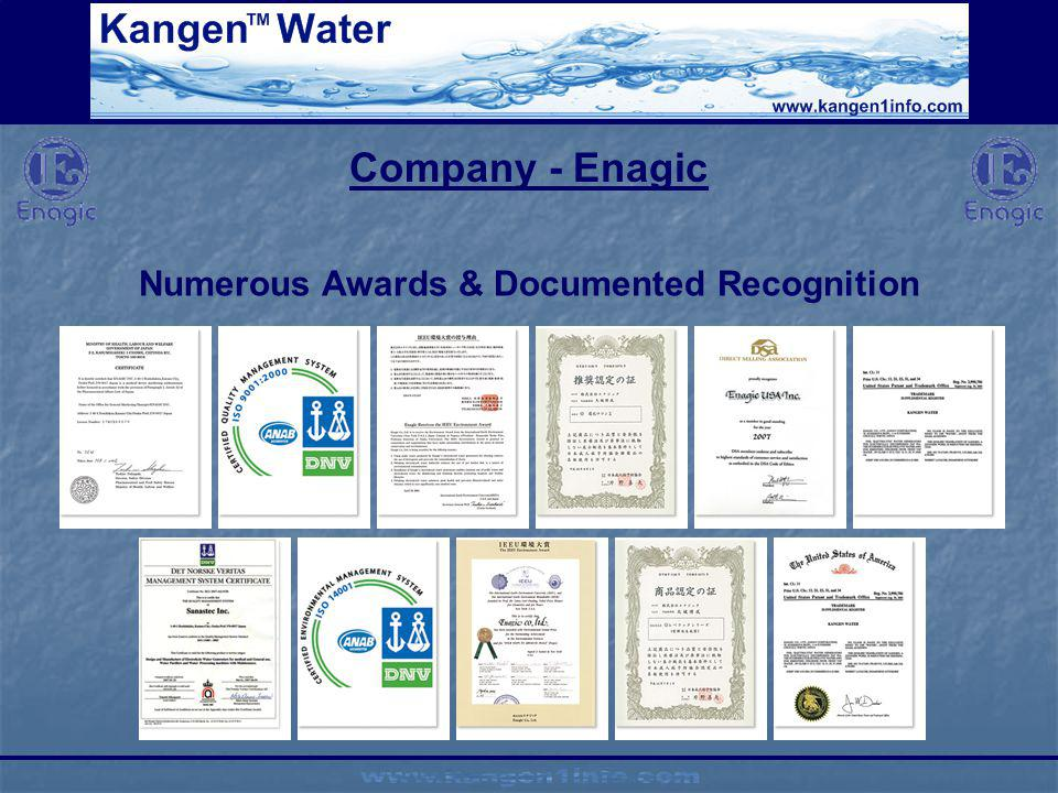 Numerous Awards & Documented Recognition