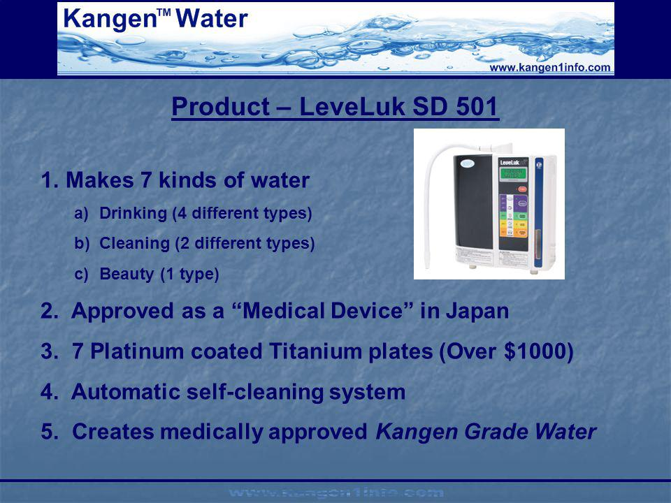 Product – LeveLuk SD 501 Makes 7 kinds of water