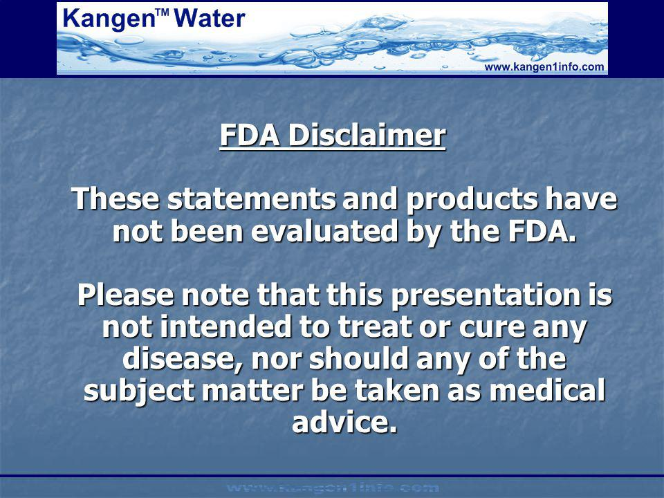 FDA Disclaimer These statements and products have not been evaluated by the FDA.