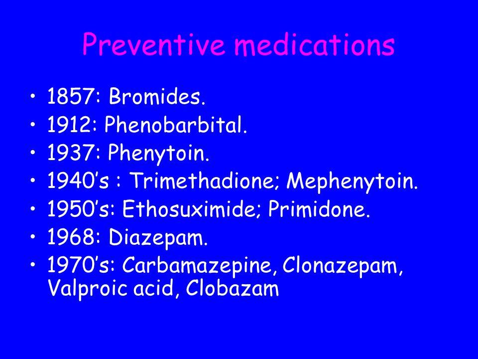 Preventive medications