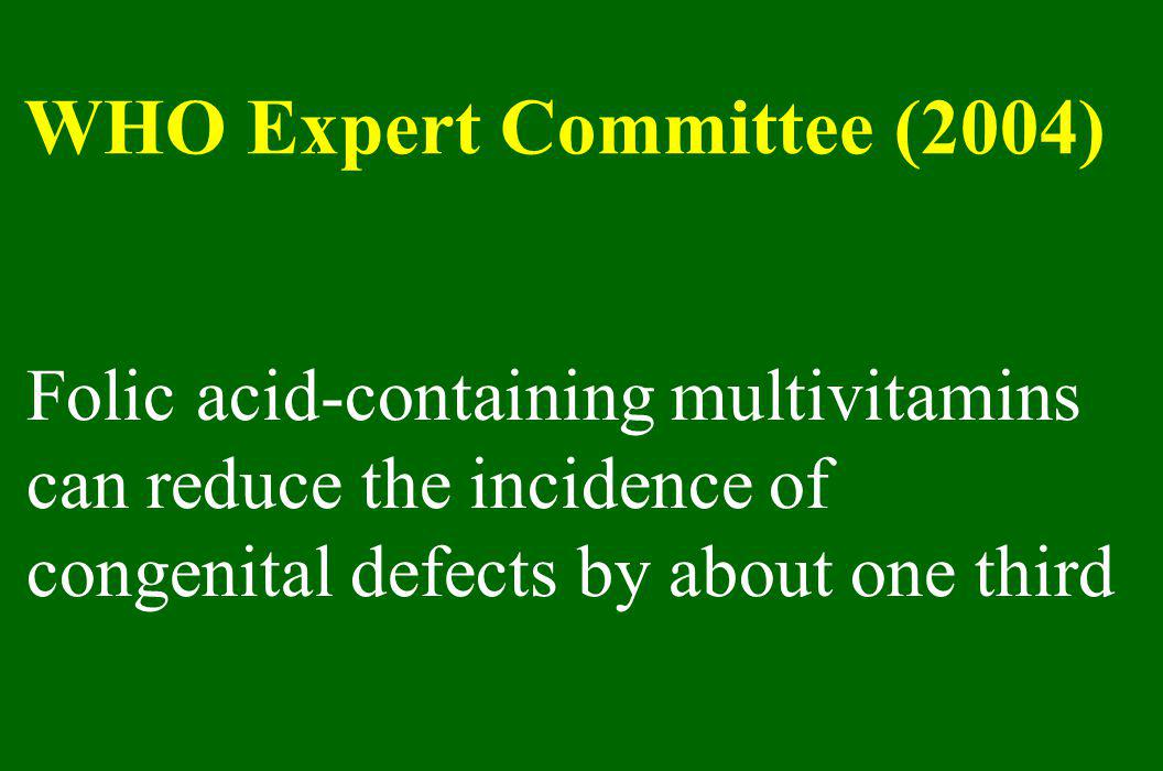 WHO Expert Committee (2004)