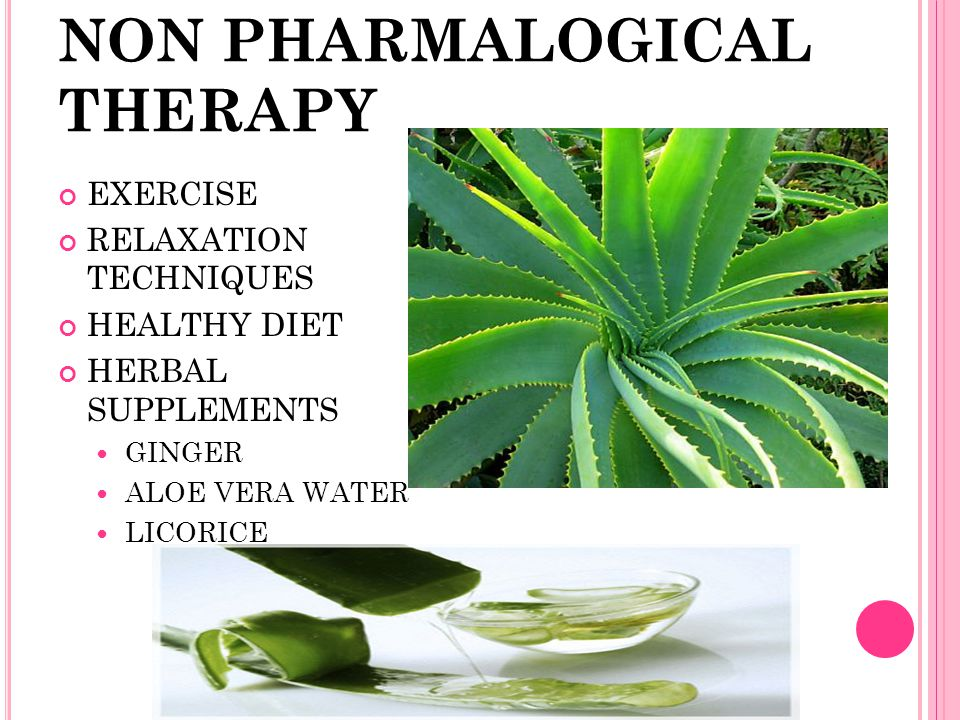 NON PHARMALOGICAL THERAPY