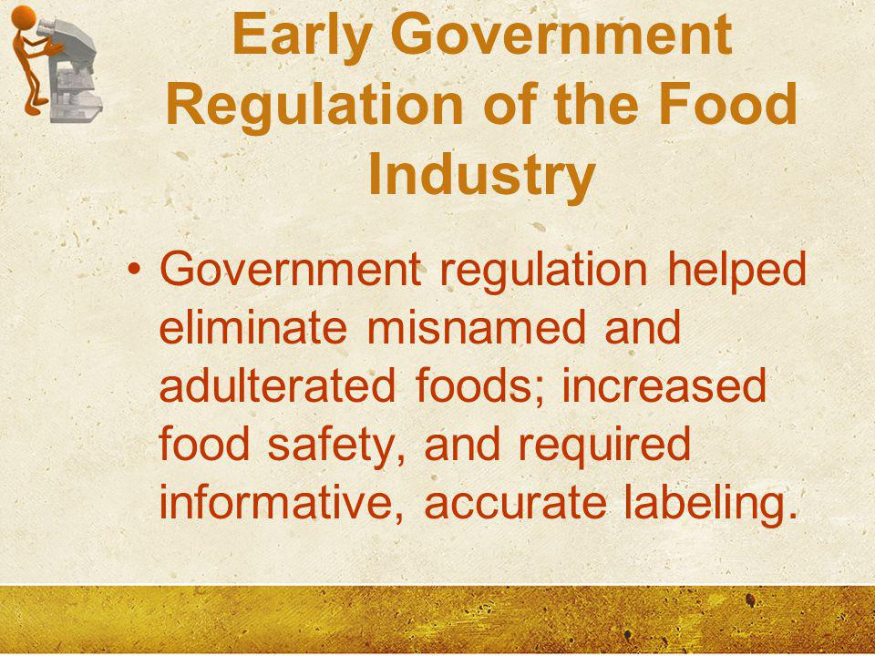 Early Government Regulation of the Food Industry