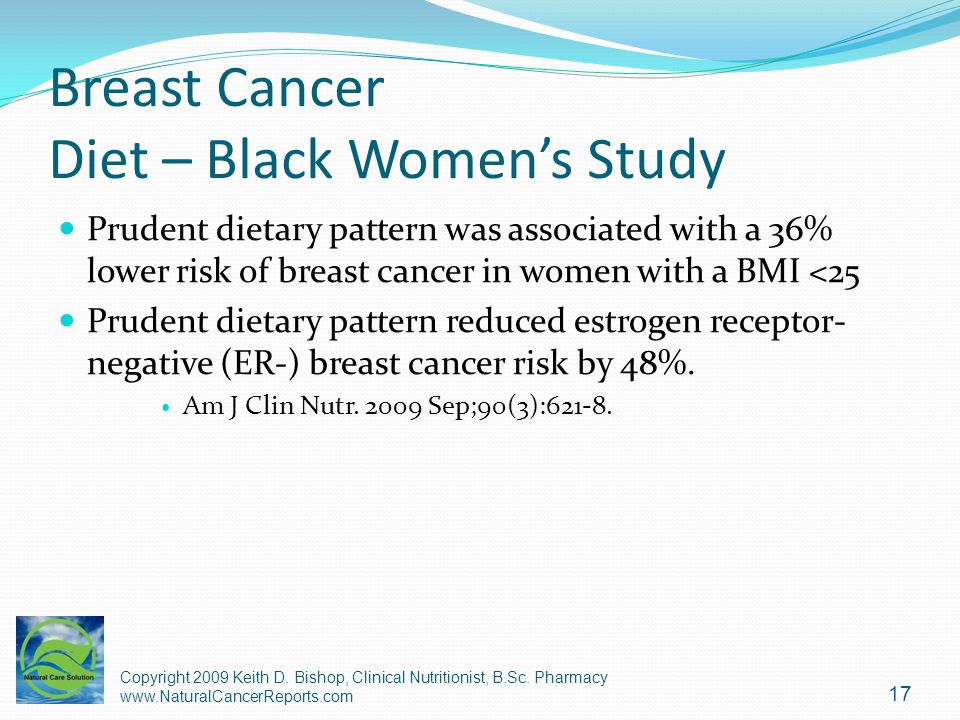 Breast Cancer Diet – Black Women's Study