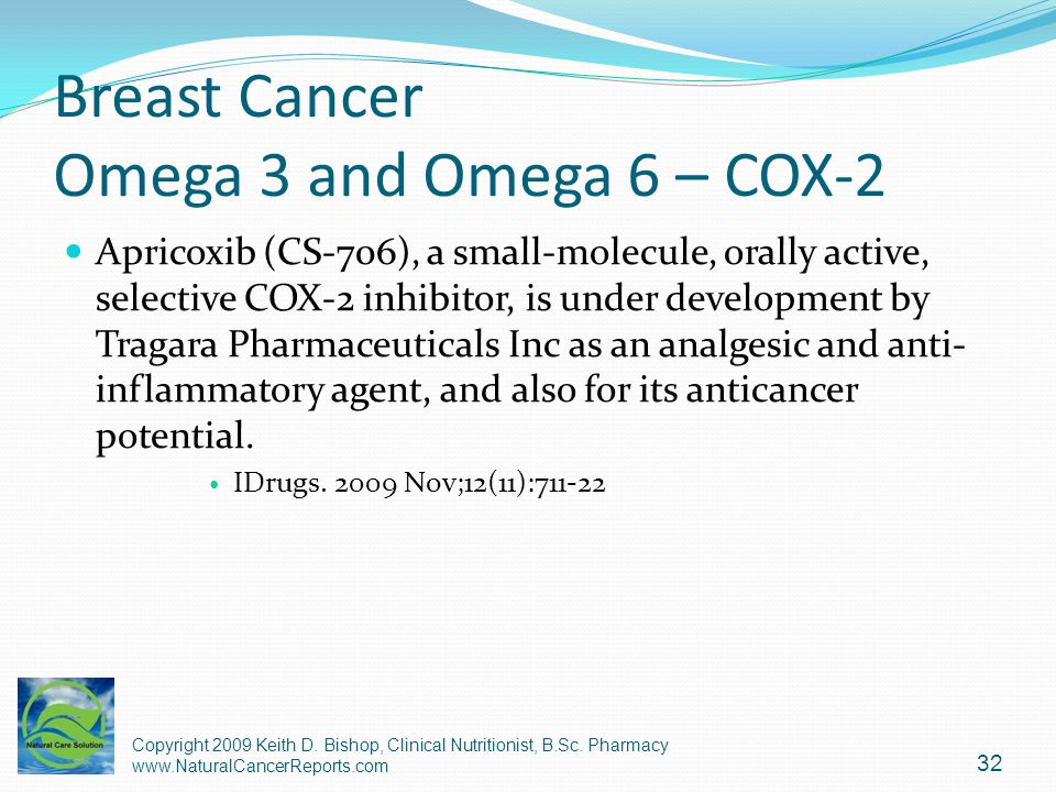 Breast Cancer Omega 3 and Omega 6 – COX-2