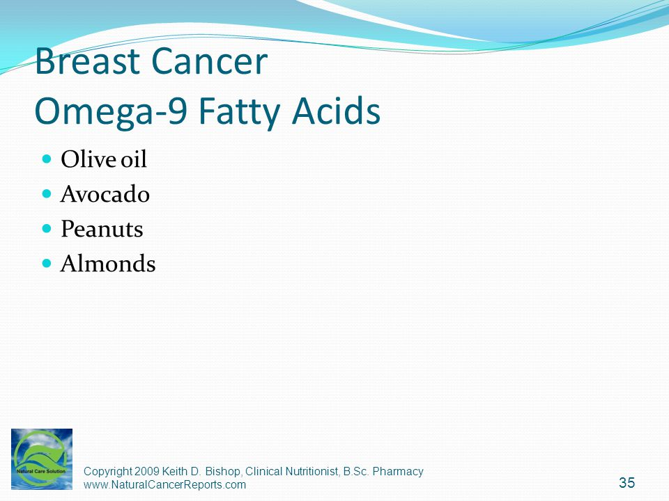 Breast Cancer Omega-9 Fatty Acids