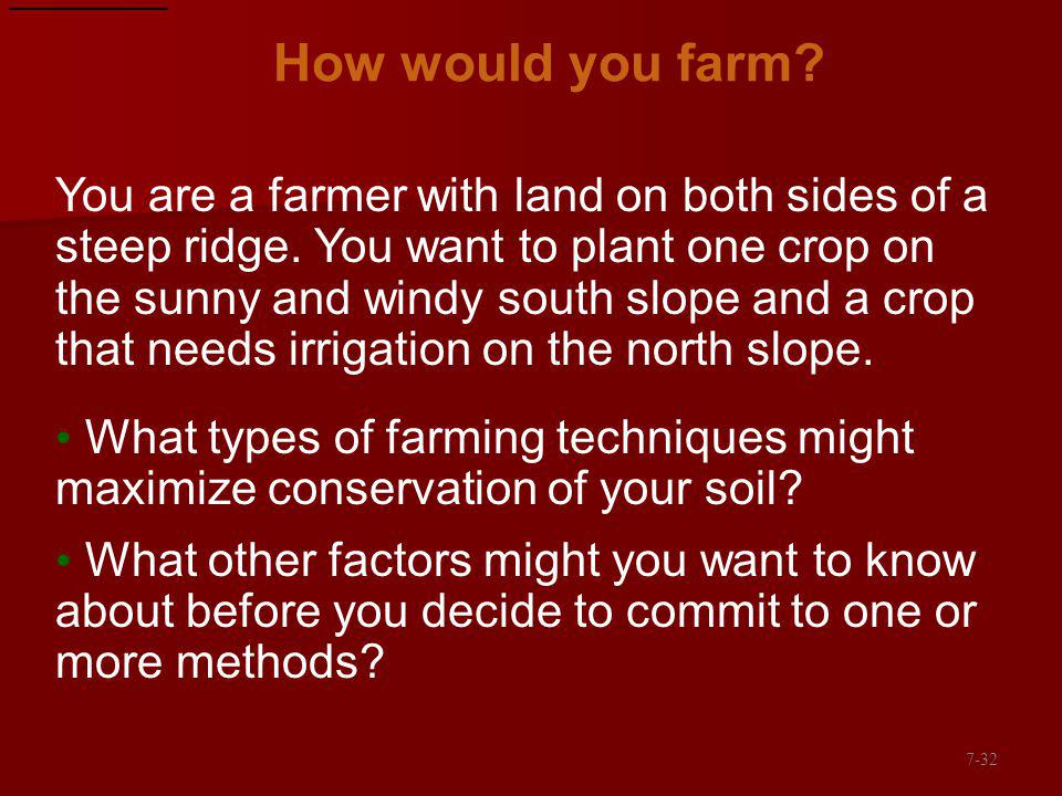 How would you farm