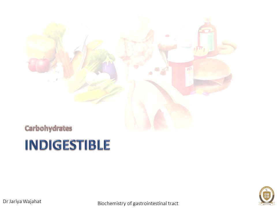 Carbohydrates Indigestible