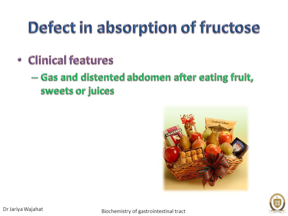 Defect in absorption of fructose