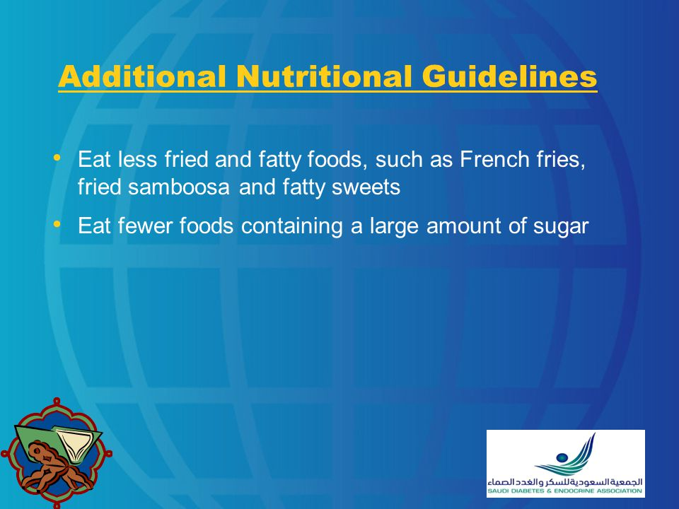 Additional Nutritional Guidelines