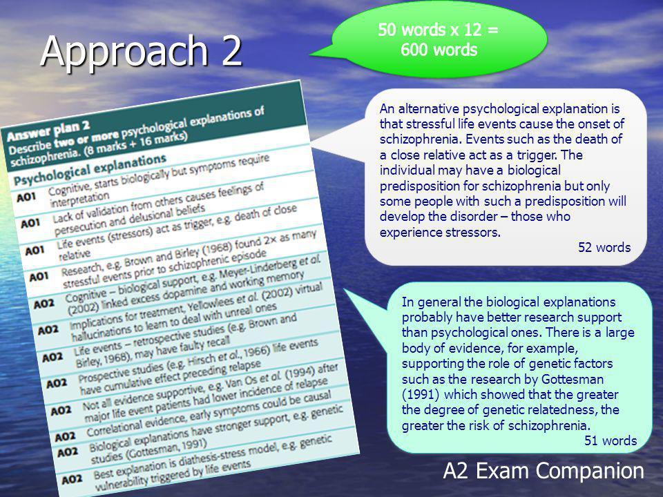 Approach 2 A2 Exam Companion 50 words x 12 = 600 words