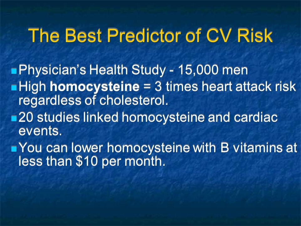 The Best Predictor of CV Risk