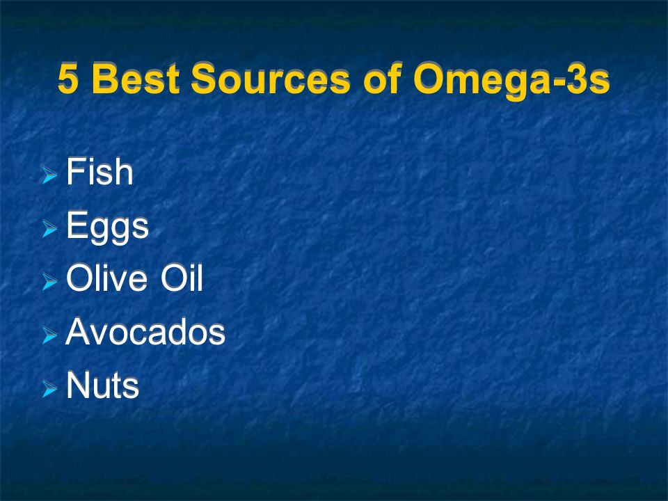 5 Best Sources of Omega-3s