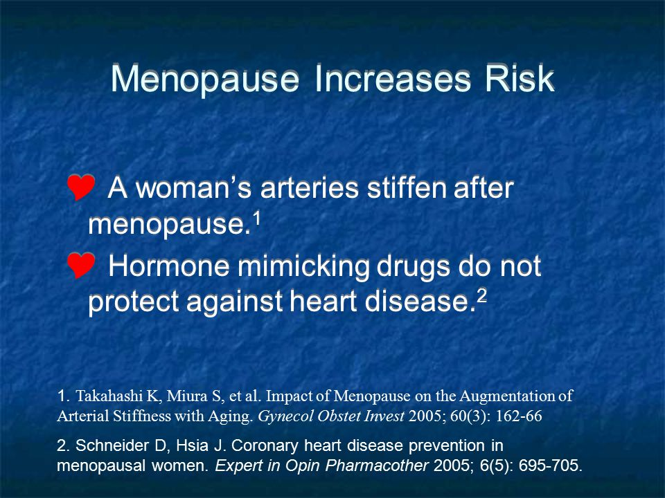 Menopause Increases Risk