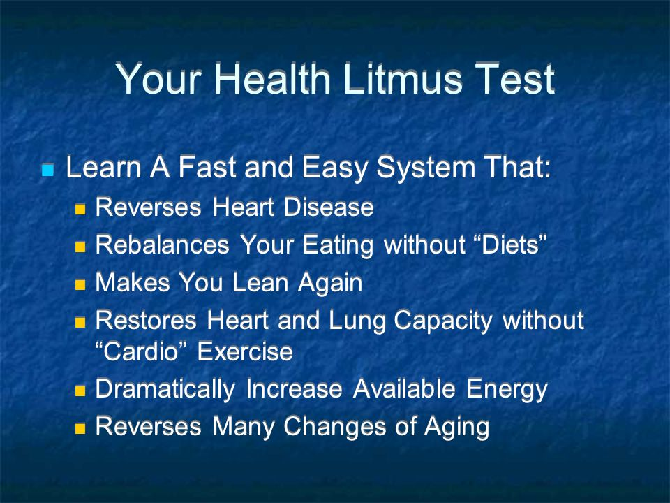 Your Health Litmus Test