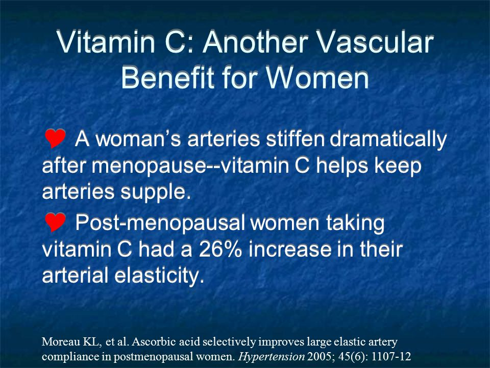 Vitamin C: Another Vascular Benefit for Women