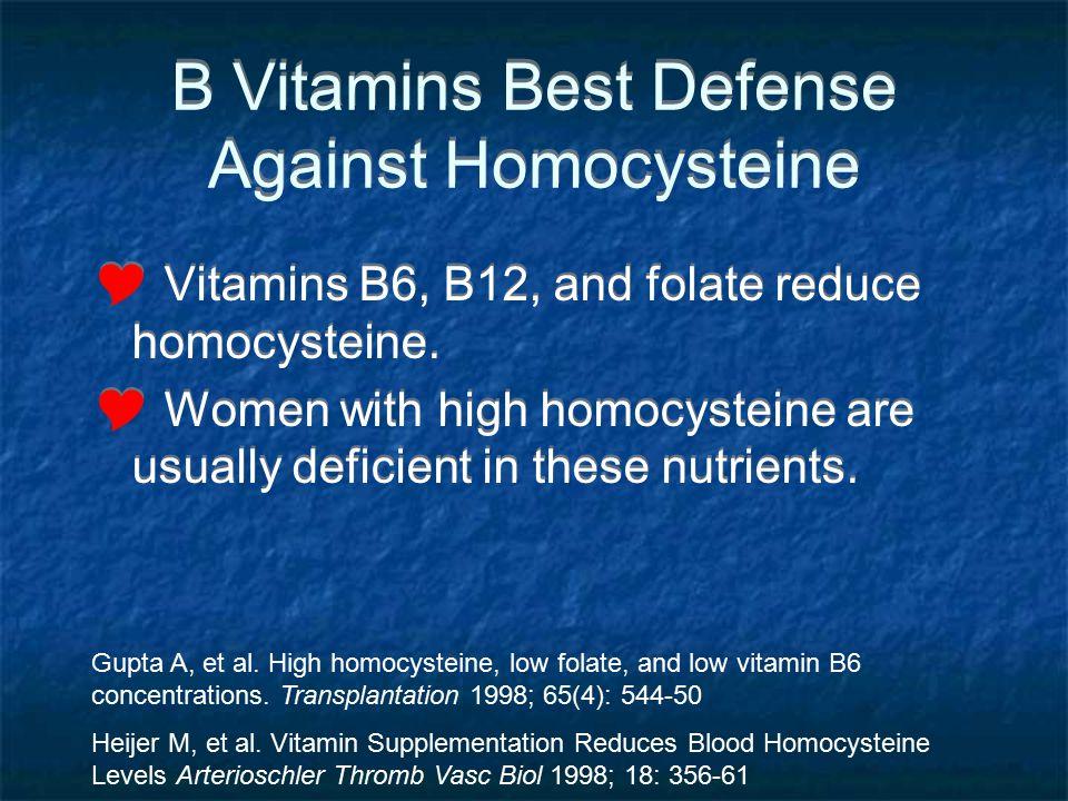 B Vitamins Best Defense Against Homocysteine
