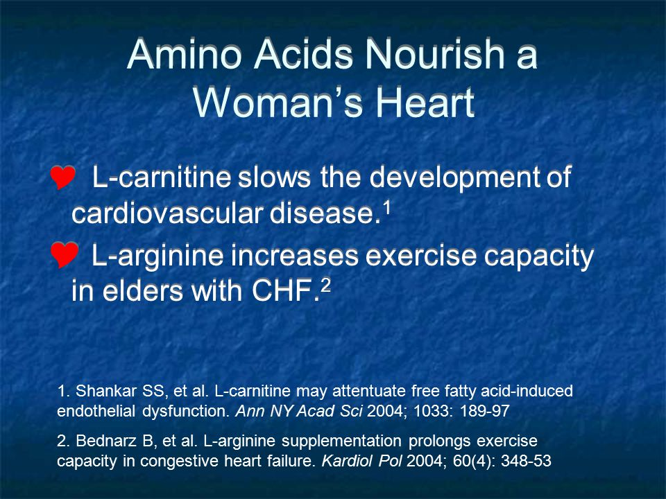 Amino Acids Nourish a Woman's Heart