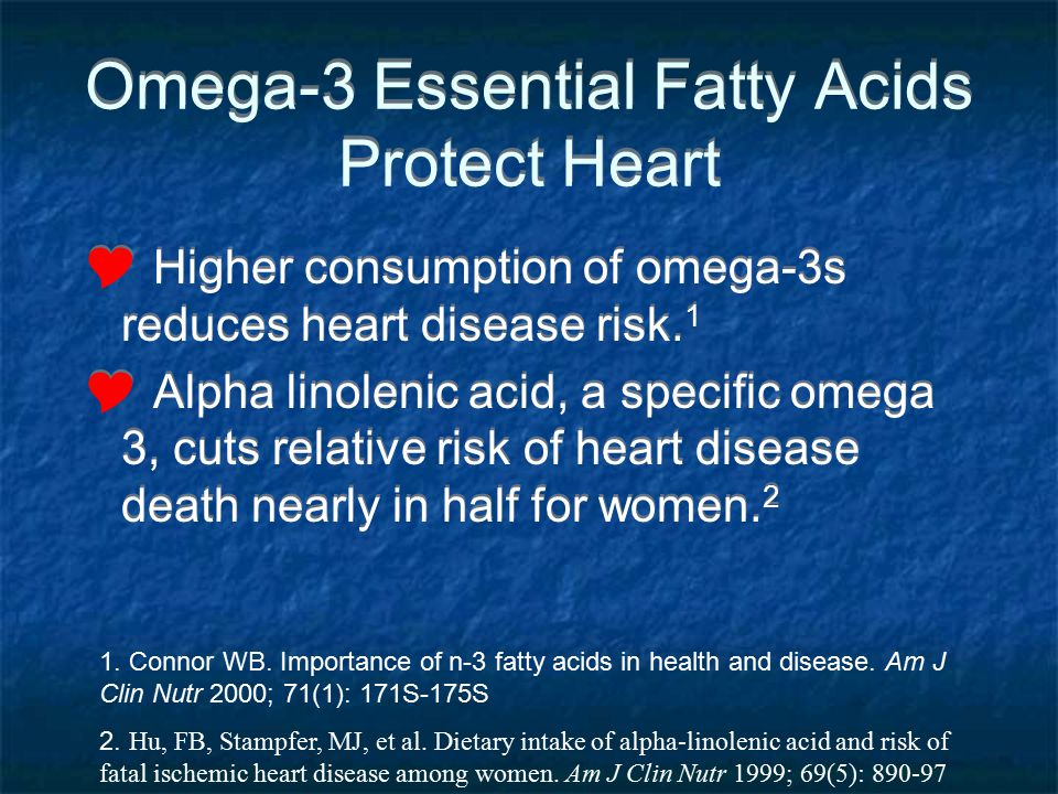 Omega-3 Essential Fatty Acids Protect Heart