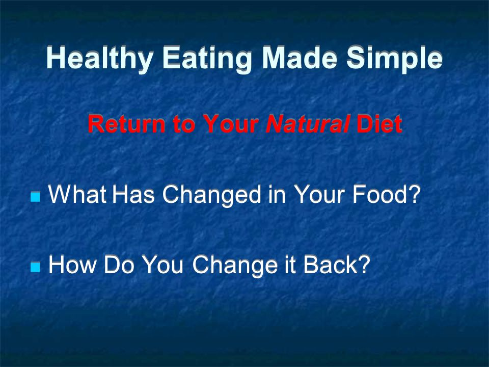 Healthy Eating Made Simple