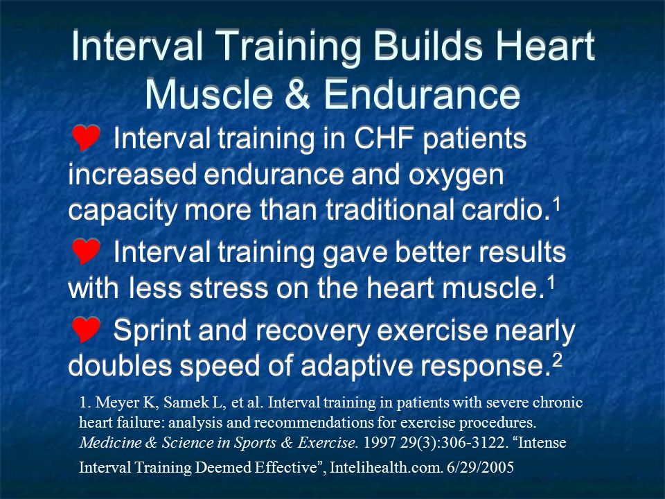 Interval Training Builds Heart Muscle & Endurance