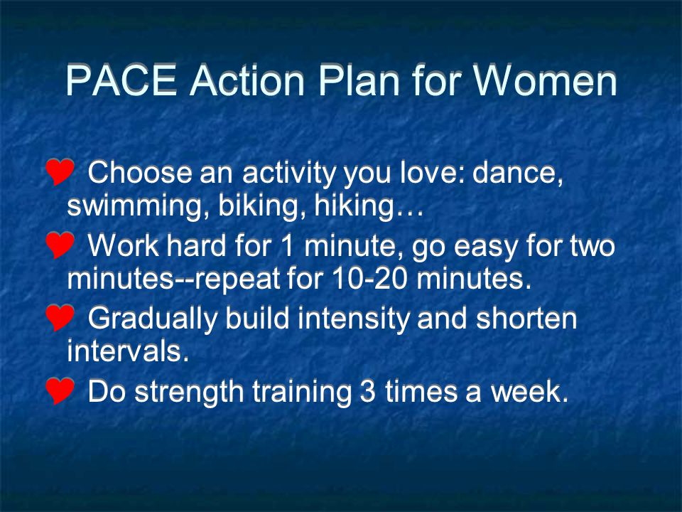 PACE Action Plan for Women