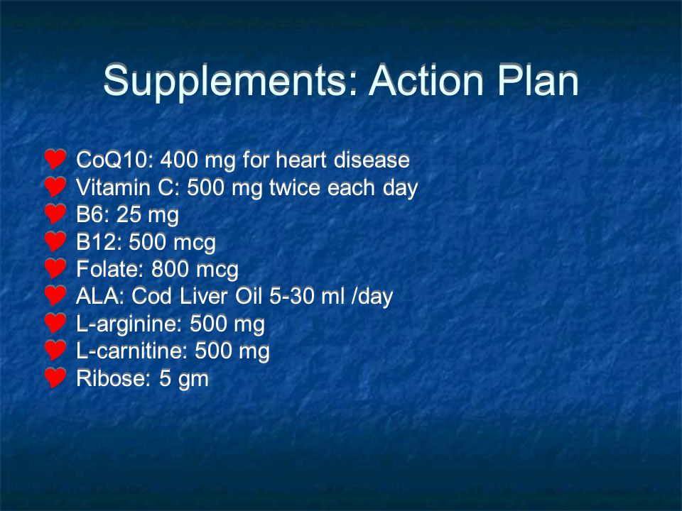 Supplements: Action Plan