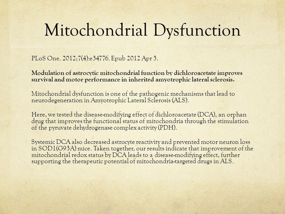 Mitochondrial Dysfunction