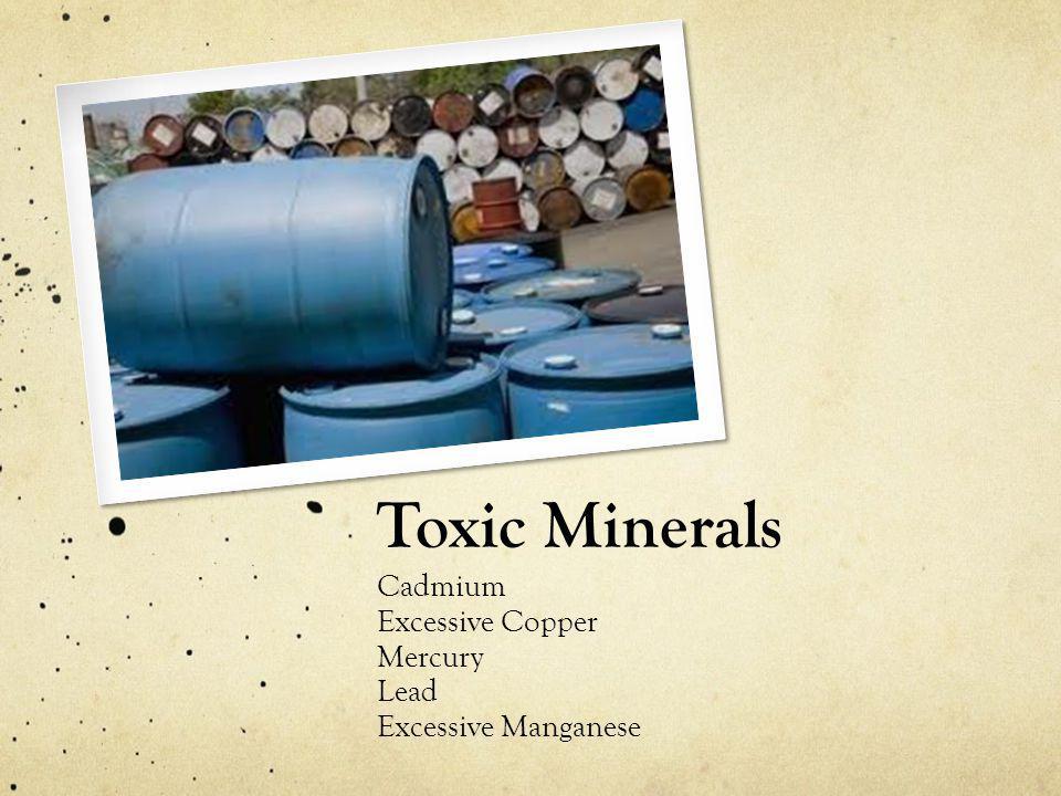 Toxic Minerals Cadmium Excessive Copper Mercury Lead