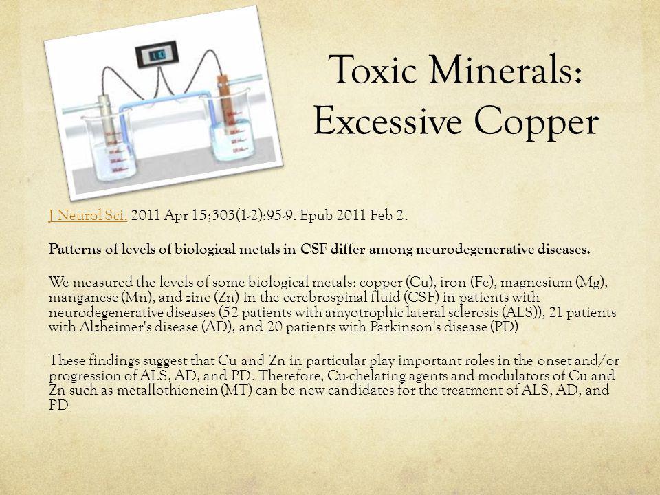 Toxic Minerals: Excessive Copper