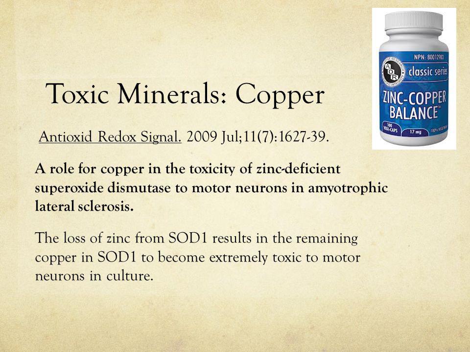Toxic Minerals: Copper