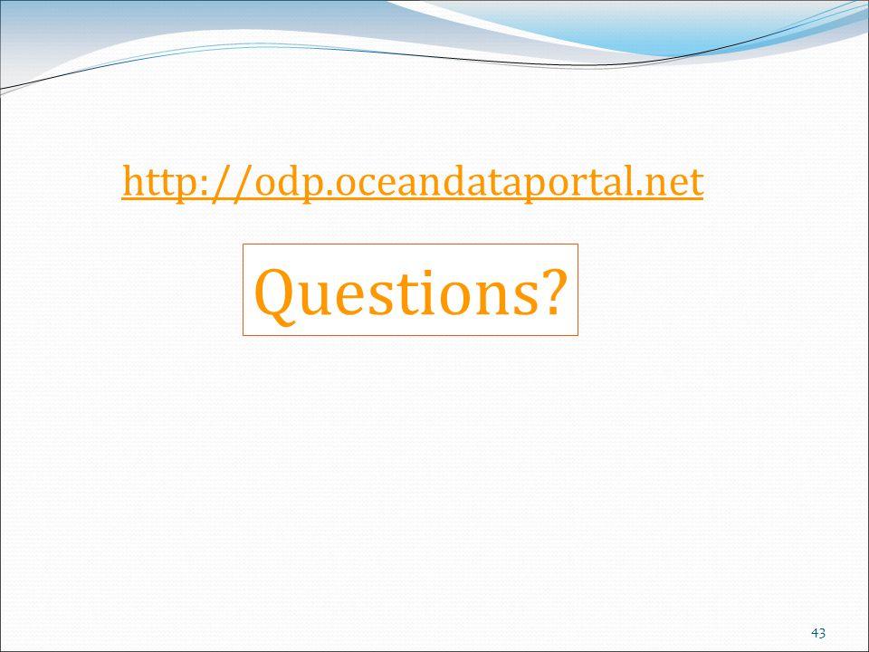 http://odp.oceandataportal.net Questions