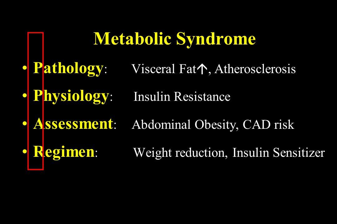 Metabolic Syndrome Pathology: Visceral Fat, Atherosclerosis