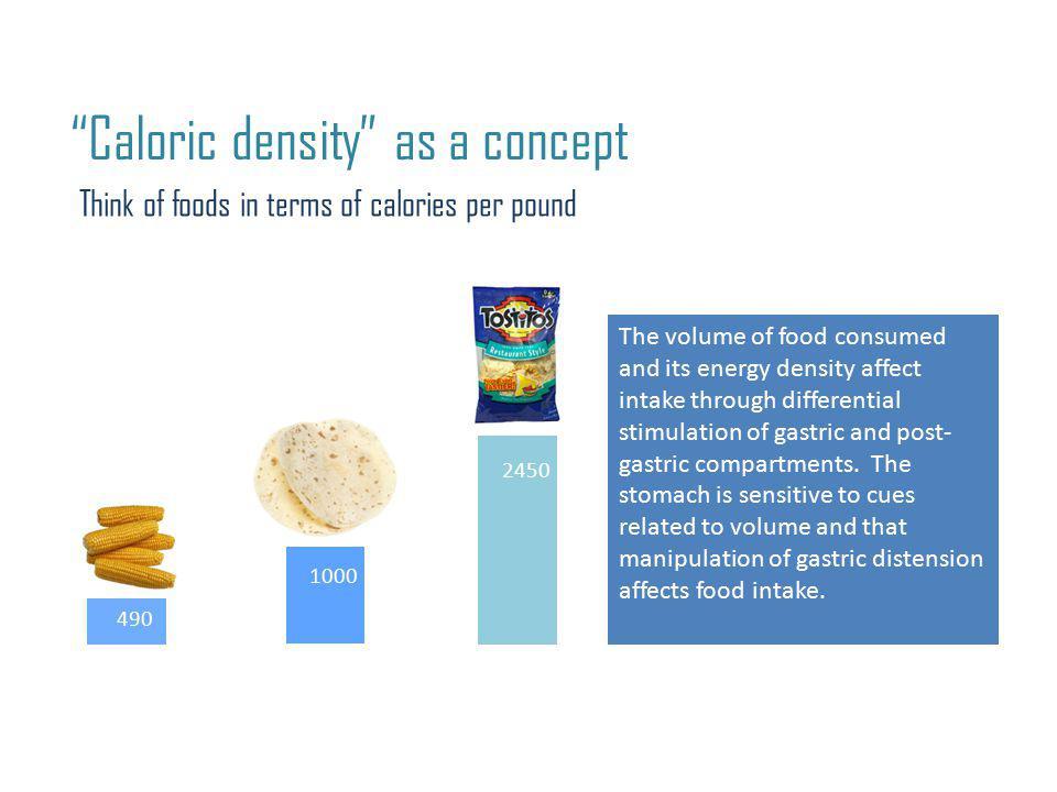 Caloric density as a concept