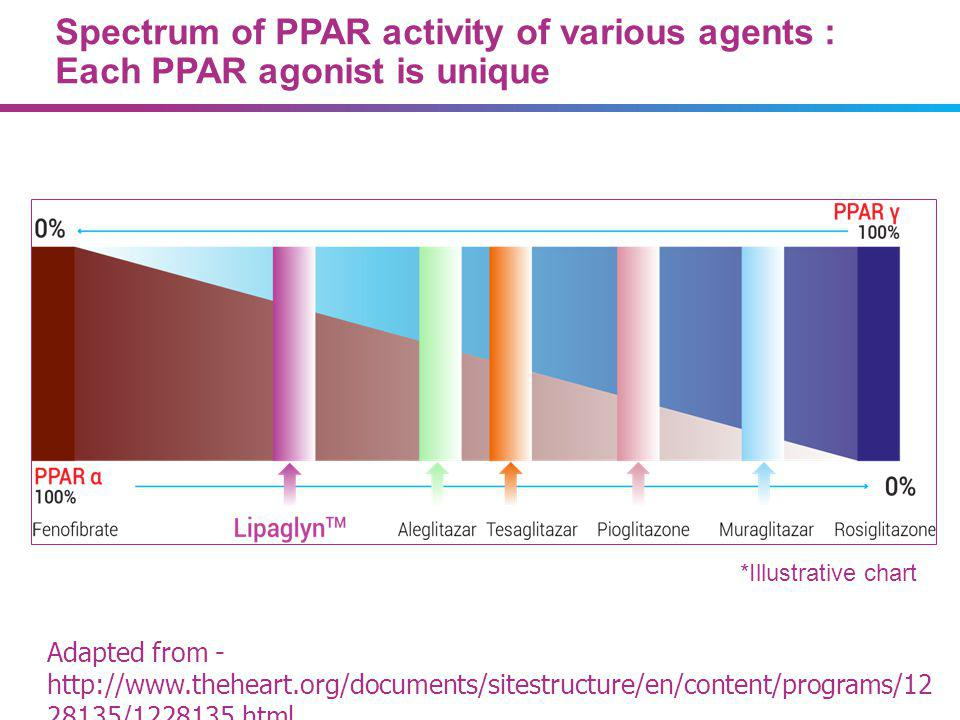 07/09/13 PPAR agonists are not a class of drugs, each drug has unique properties*