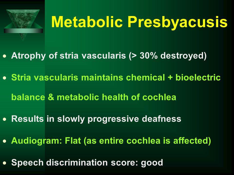 Metabolic Presbyacusis