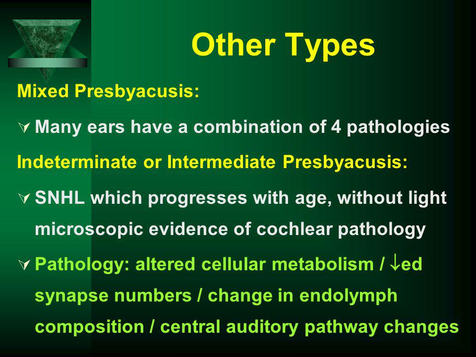 Other Types Mixed Presbyacusis: