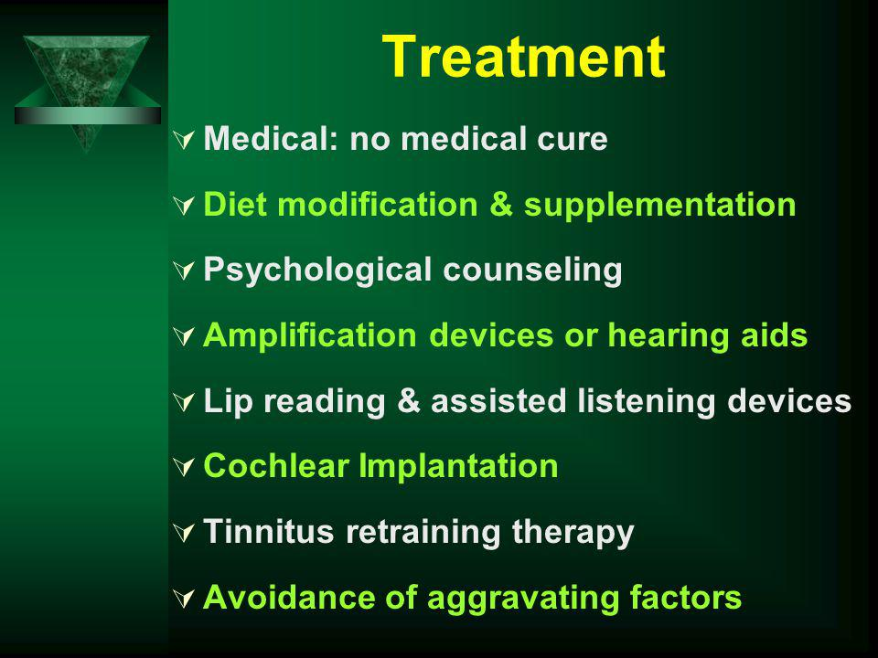 Treatment Medical: no medical cure Diet modification & supplementation