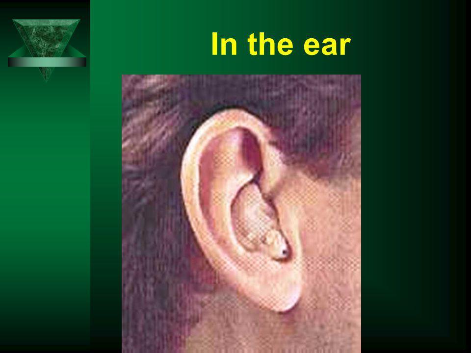 In the ear