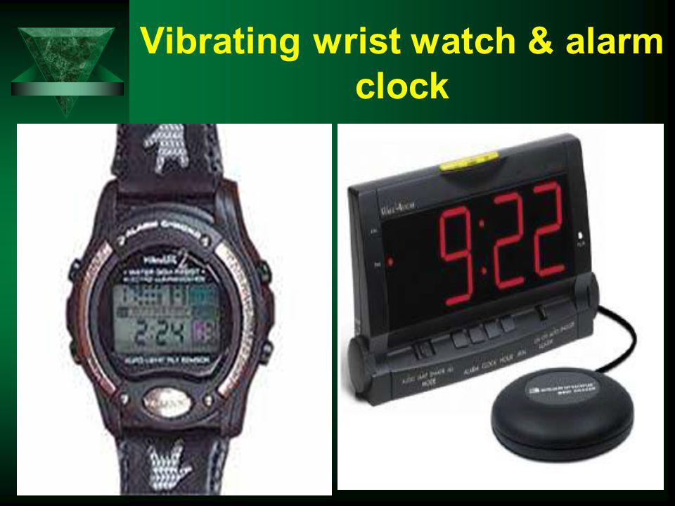 Vibrating wrist watch & alarm clock