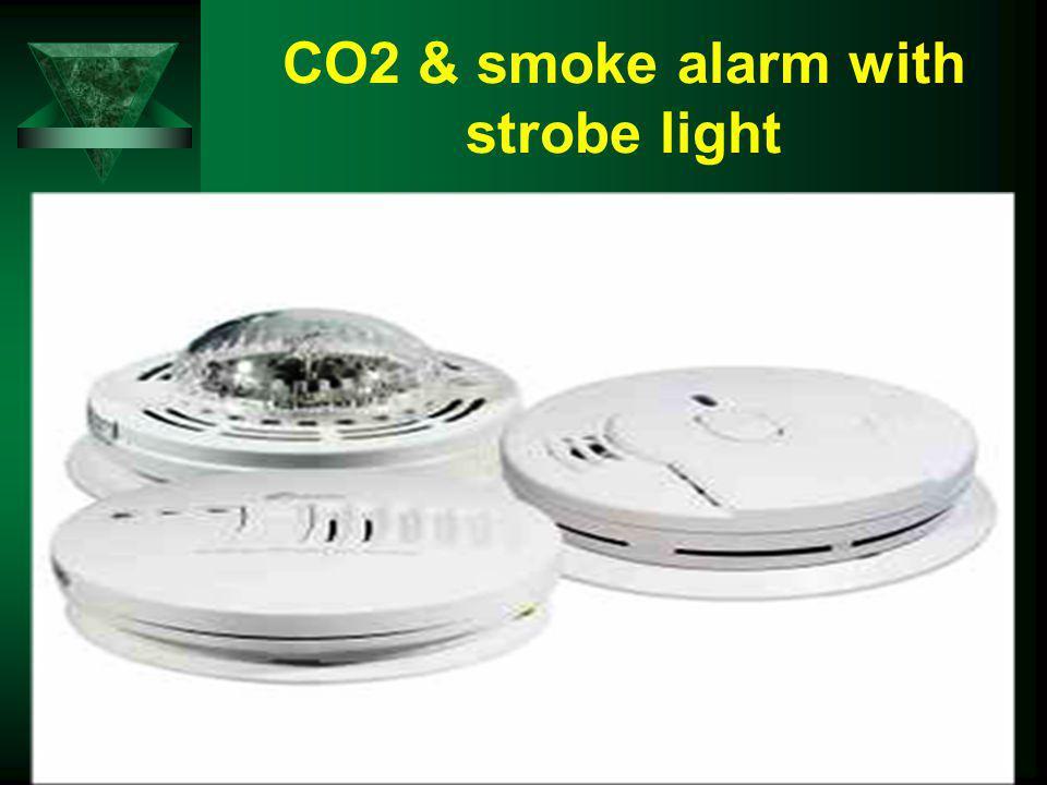 CO2 & smoke alarm with strobe light