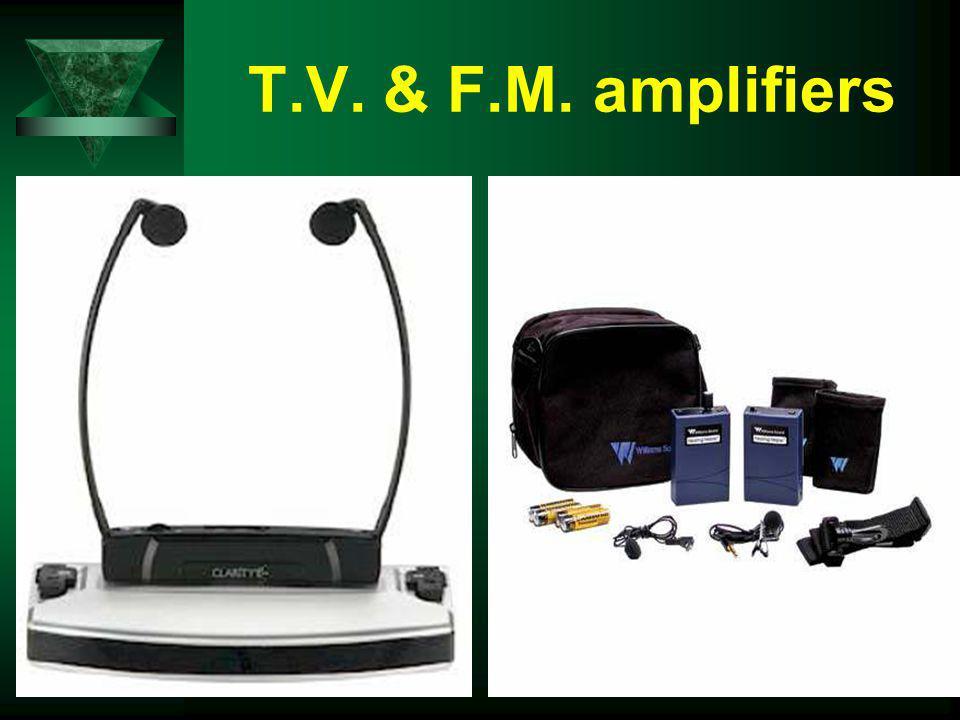 T.V. & F.M. amplifiers