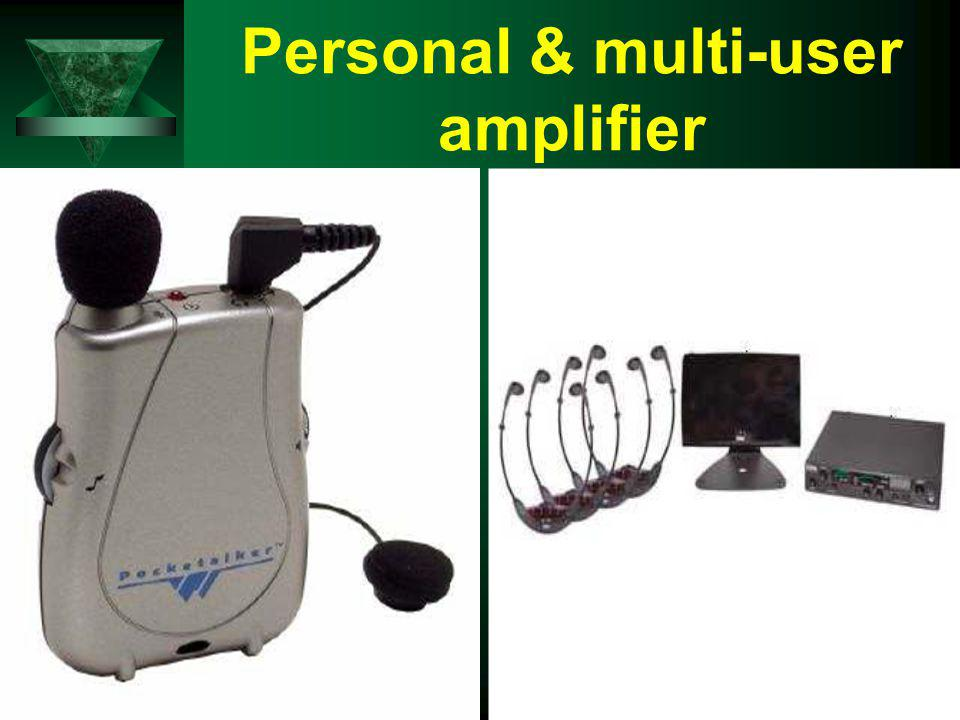 Personal & multi-user amplifier