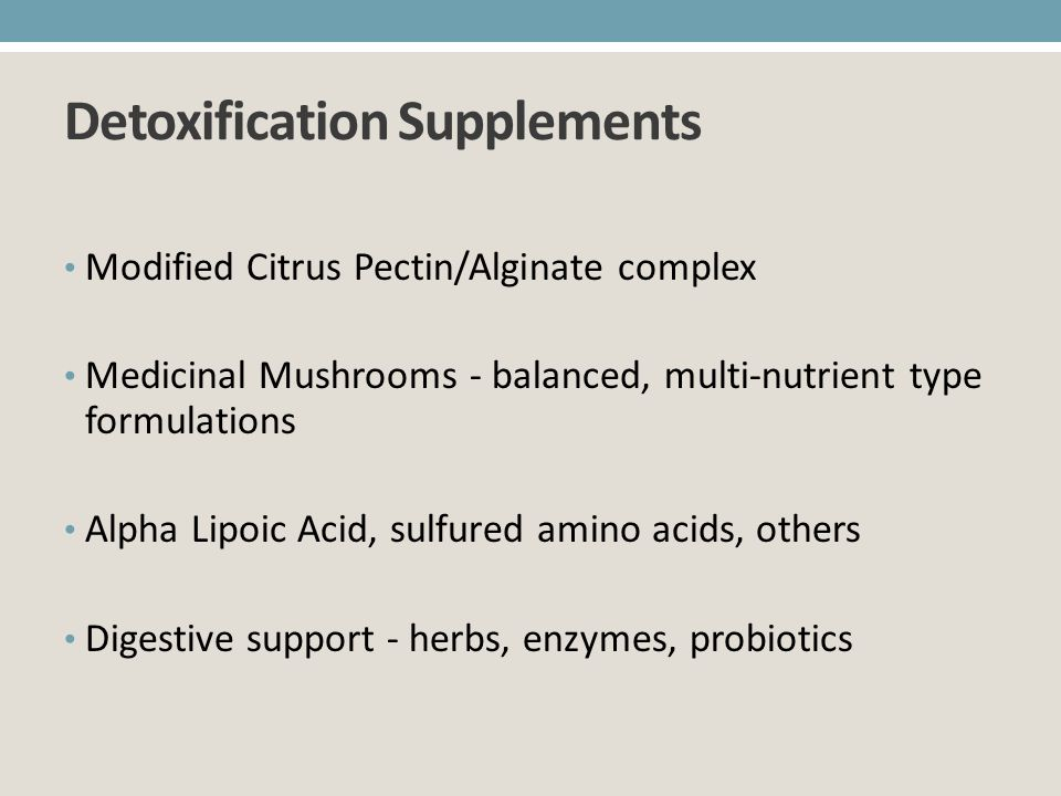 Detoxification Supplements