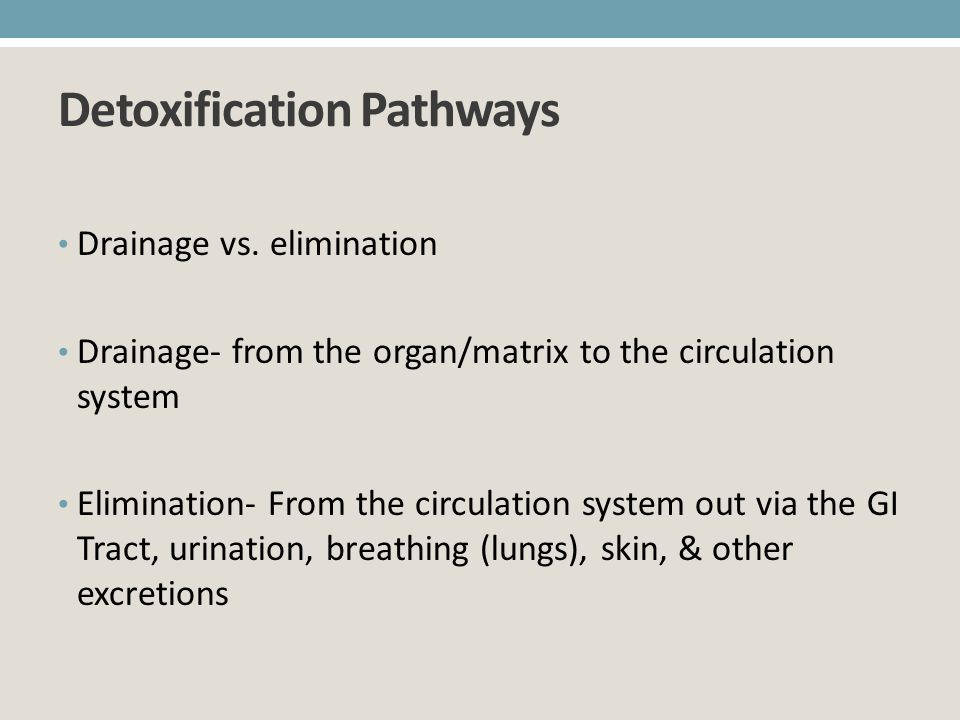 Detoxification Pathways