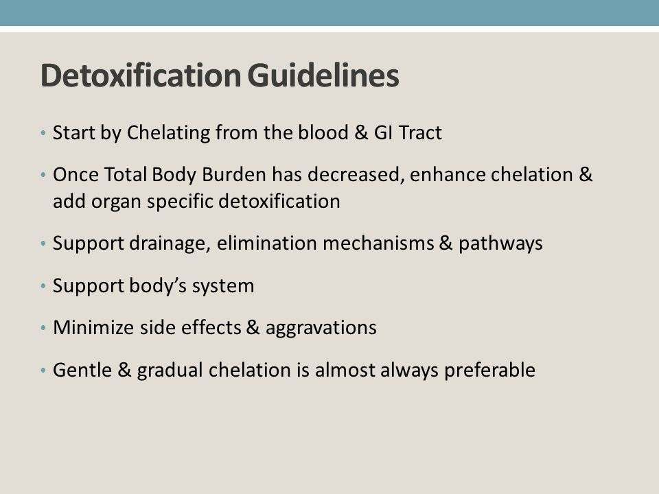 Detoxification Guidelines